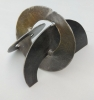 Semicircles-steel-sculpture-by-Amanda-Randall-23x14x13cm