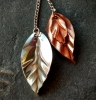 Copper-and-sterling-silver-leaf-pendants-by-Amanda-Randall